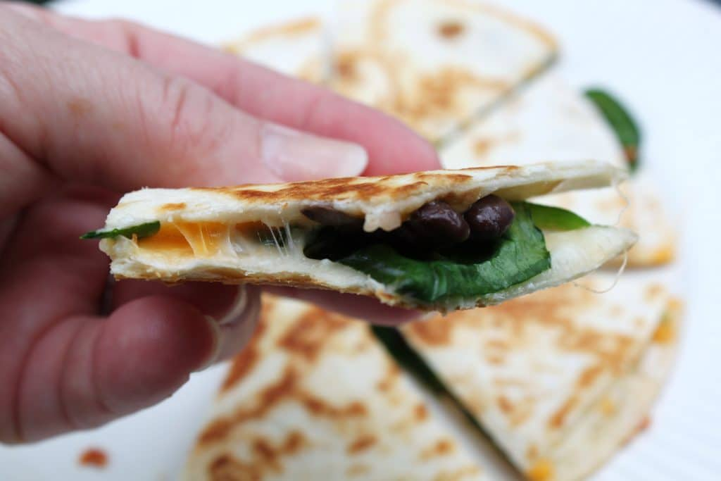 Our Favorite Lunch: Spinach & Black Bean Quesadillas - All Things ...