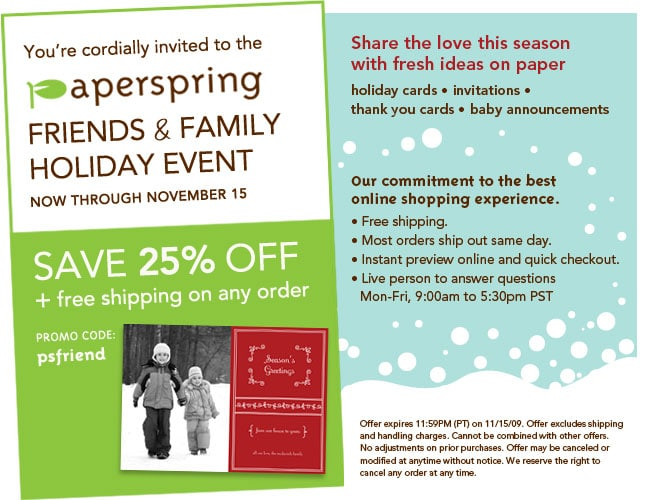 Paperspring Friends & Family Holiday Event