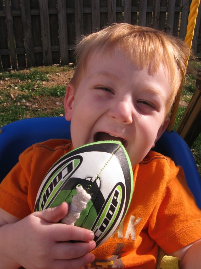 Wordless Wednesday -This Boy Loves Some Football