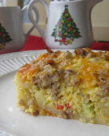 This breakfast casserole is the perfect Christmas morning meal!