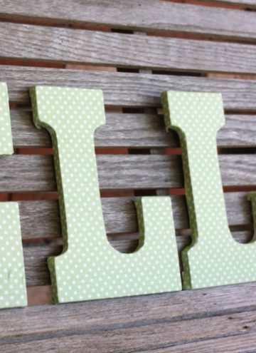 How To Make Pottery Barn Knock Off Fabric Covered Letters
