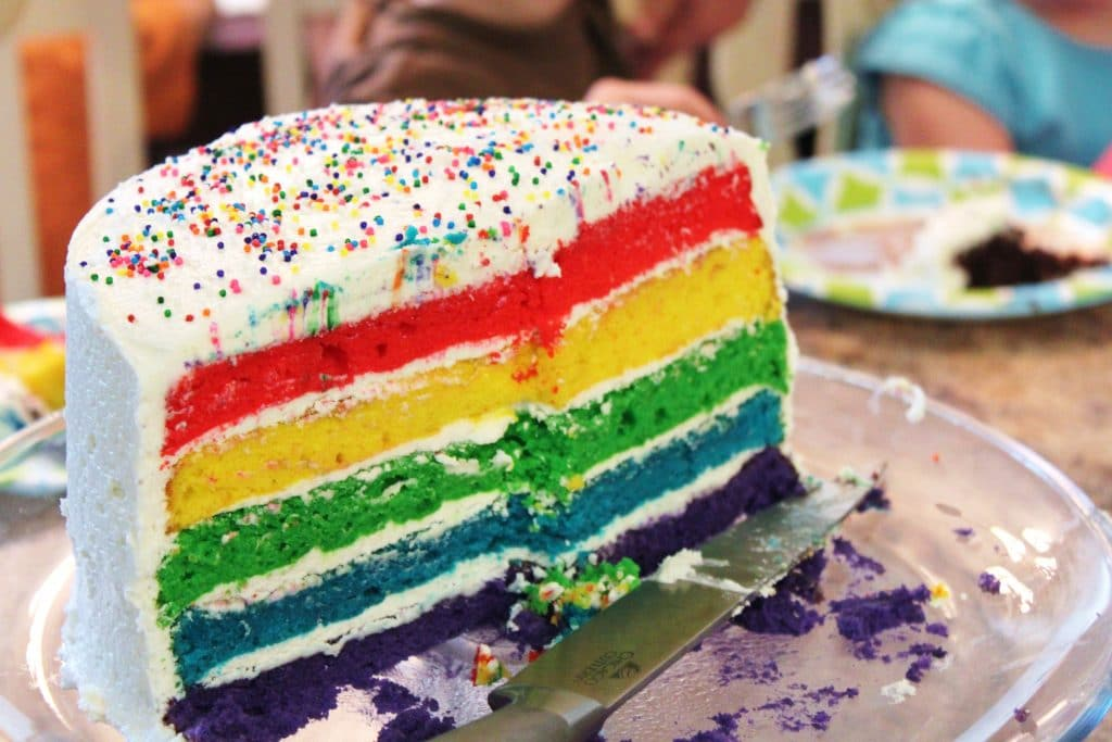 cake rainbow layer cake layered rainbow cake rainbow layer cake make a ...