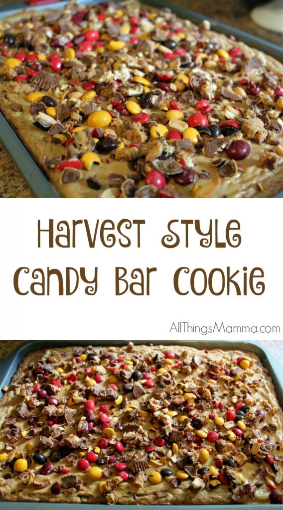 This Harvest Style Candy Bar Cookie is a hit EVERY TIME I make it!