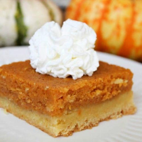 Full of flavor and a perfect seasonal dessert, Pumpkin Gooey Butter Cake is sure to please everyone at the dinner table this Fall Season!
