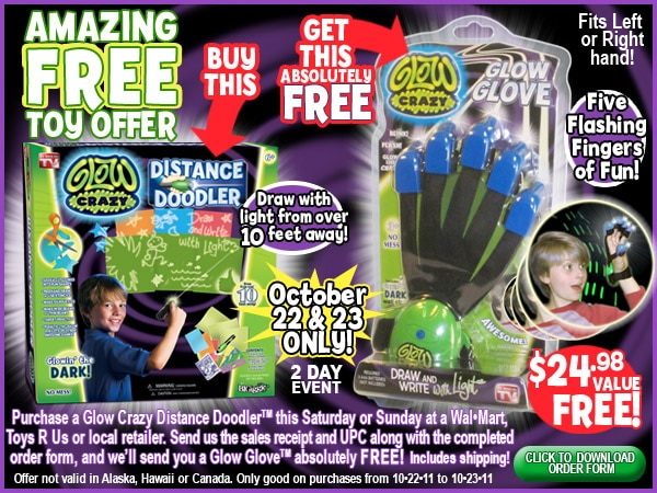 FREE Glow Glove with Glow Crazy Distance Doodler Purchase