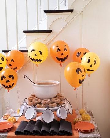 Простые декорации на хэллоуин