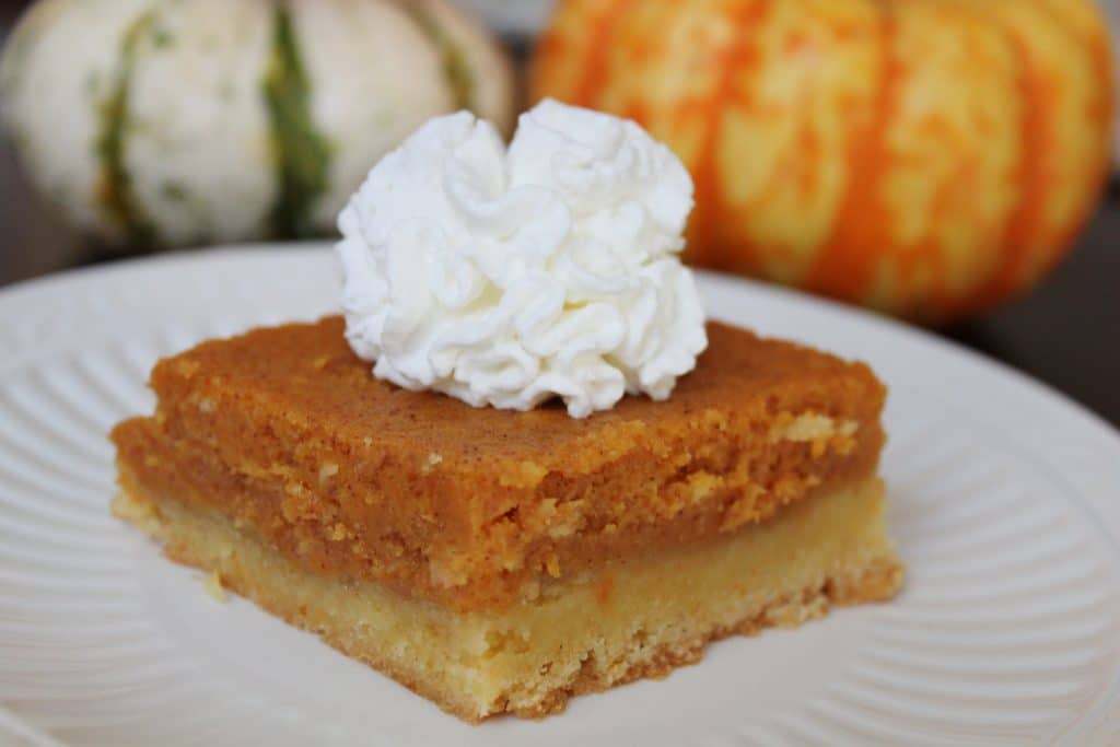 Pumpkin Gooey Butter Cake - All Things Mamma