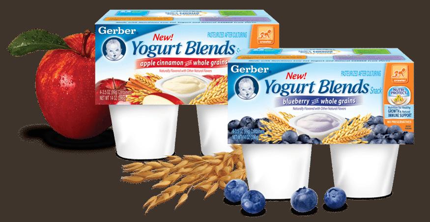 NEW Gerber Yogurt Blends – Good for Baby {Giveaway}