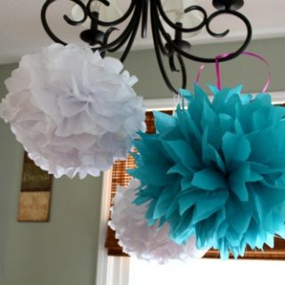 How To Make Tissue Paper Pom Poms Easily!