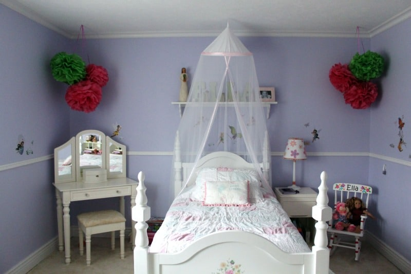 way to add a little color and fun into a little girl s bedroom
