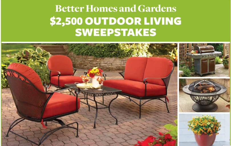 better homes and gardens 2500 outdoor living sweepstakes all things mamma