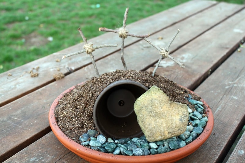 Creating an Easter Garden is a great way to share with your children the real story behind Easter - the death, burial and resurrection of our Lord and Savior.