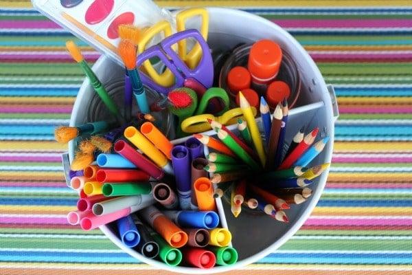 Organize Your Art Supplies With An Art Caddy