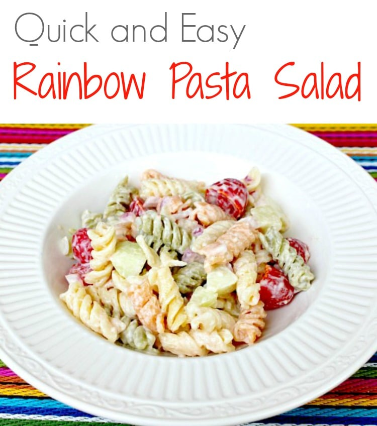 The next time you need a easy dish for a gathering - take this Rainbow Pasta Salad!