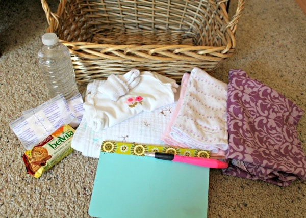 Create a Nursing Basket to help keep what you need at your fingertips while nursing baby throughout the day.