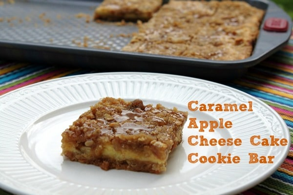 Caramel Apple Cheese Cake Cookie Bar - a delicious bar cookie that is ...