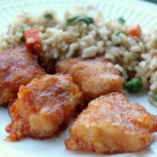 Sweet & Sour Chicken and Fried Rice