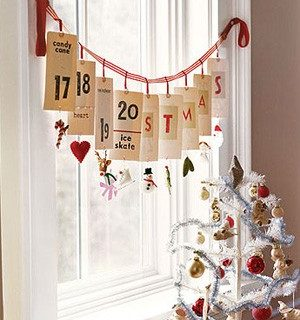 Creating An Advent Calendar Garland