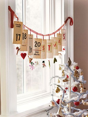 Creating An Advent Calendar Garland All Things Mamma