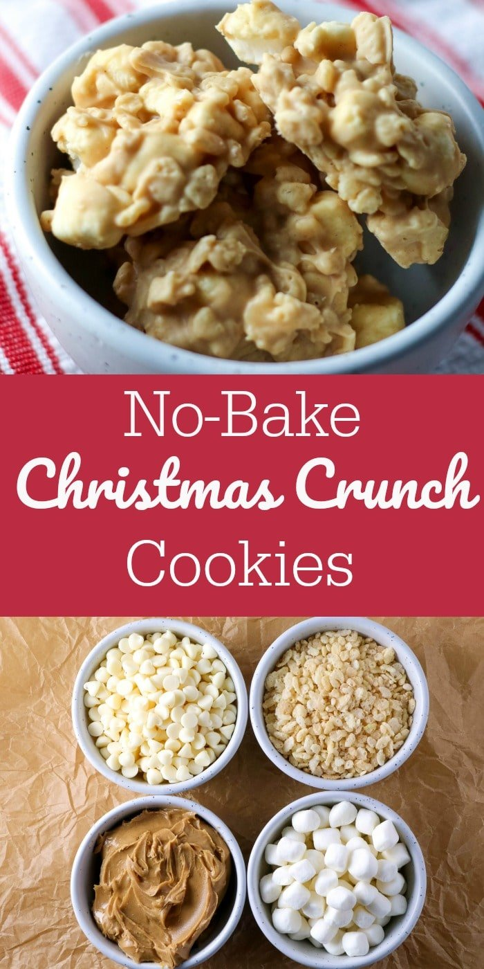 No-Bake Christmas Crunch Cookies- All Things Mamma