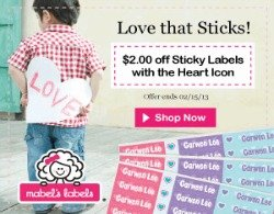 $2 Off Mabel's Labels Heart Labels Through 2/15