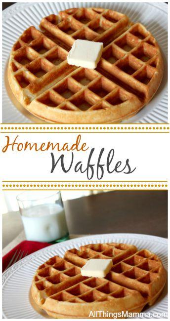 Homemade waffles, Waffle batter, Easy waffle recipe, Waffle batter recipe, Waffle mix recipe, Waffles from scratch, Homemade waffle recipe