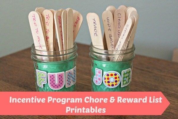 Incentive Program Chore Reward List Printables All Things Mamma
