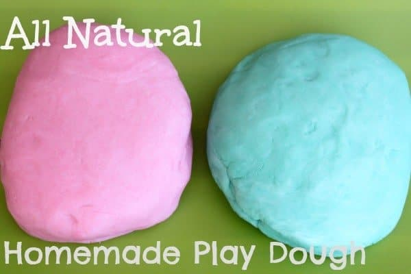 Create ALL NATURAL Play Dough for your kiddos with 4 ingredients you already have in your pantry!