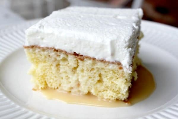 Coconut Tres Leches Cake - light and airy, creamy and dense. Soooo good!