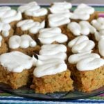 Zucchini Carrot Bars with Lemon Cream Cheese Frosting