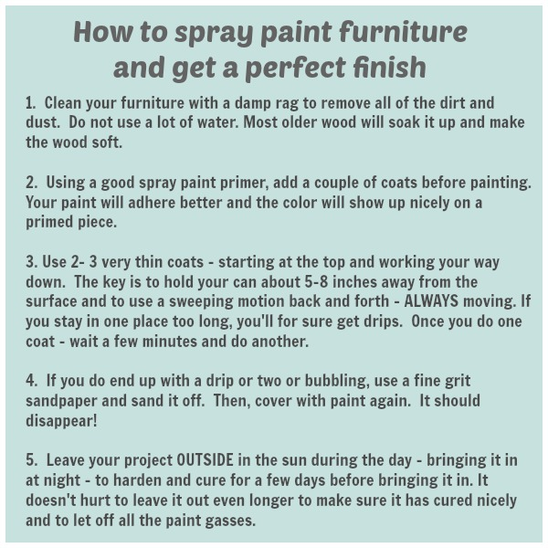 How to spray paint furniture and get a perfect finish every time!