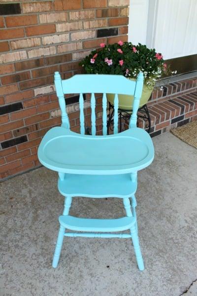 painted vintage highchair