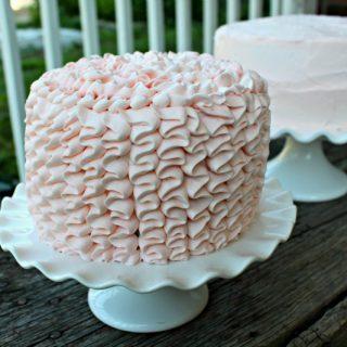 Pink Ruffle Cake Tutorial
