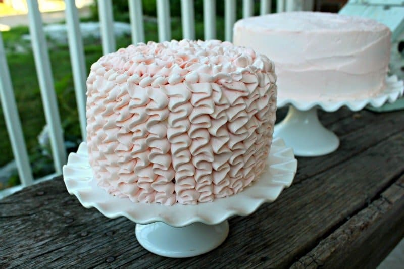 How to make a Pink Ruffle Cake