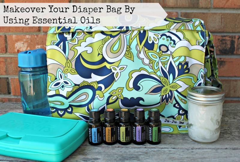 Makeover your diaper bag by using essential oils.