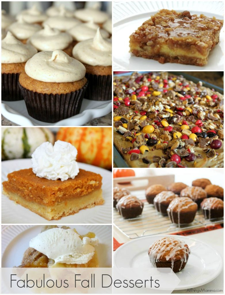 Fabulous Fall Desserts sure to please!