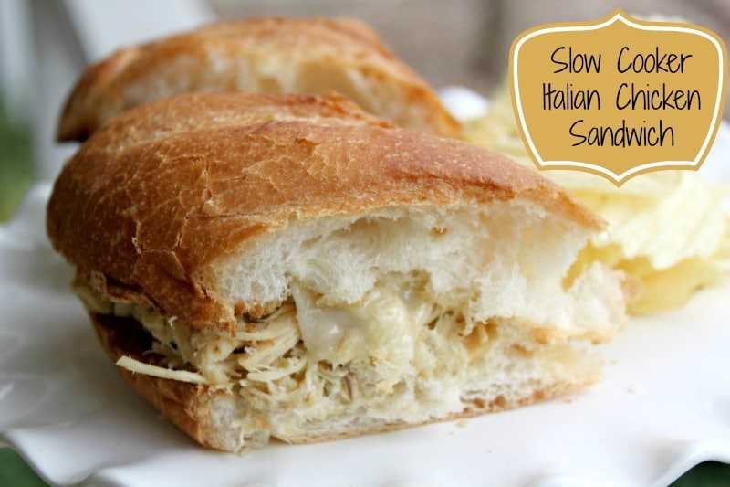 Slow Cooker Italian Chicken Sandwich - delicious AND affordable!