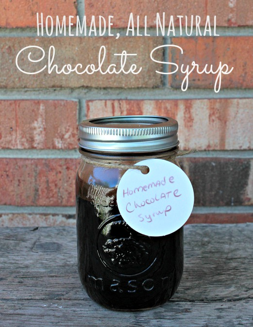 Homemade, All Natural Chocolate Syrup with only 4 ingredients