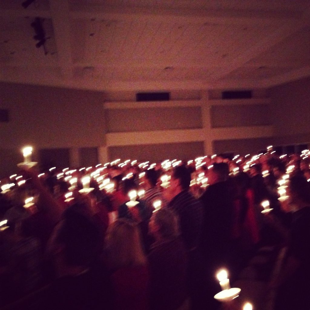 The candlelight service at our church on Christmas Eve is one of my favorites of the year.