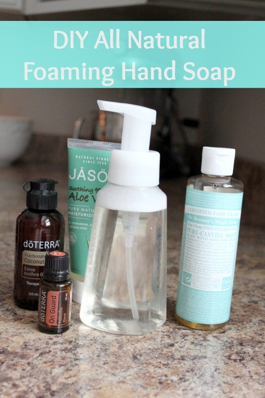DIY all natural foaming hand soap with 4-ingredients!