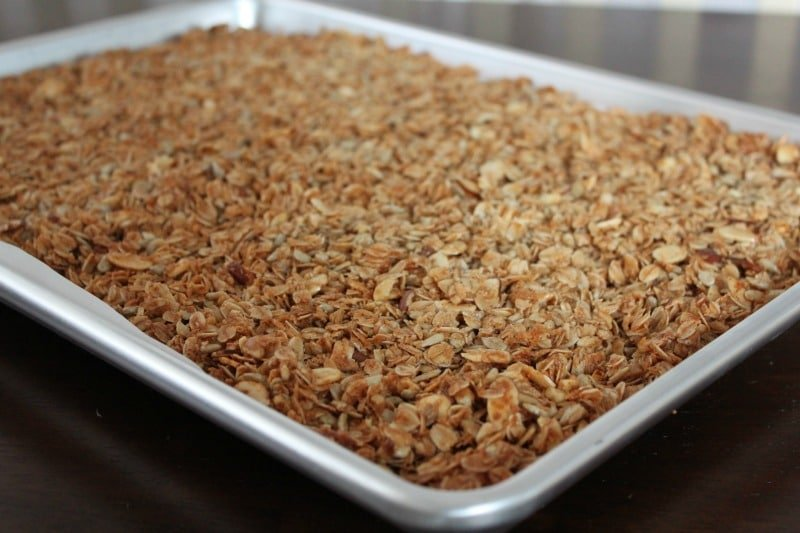 Healthy Homemade Granola - just add in your favorite mix-ins for a healthy snack!