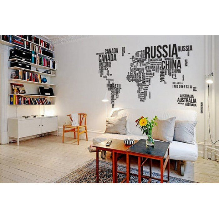Professional Office Wall Decor : For office room d?cor paste water proof world map stickers