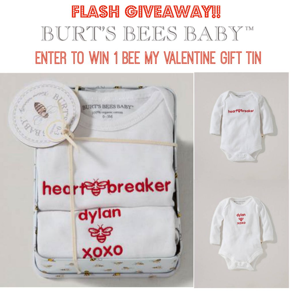 Burts Bee Baby FLASH GIVEAWAY over Valentine's Day at 11:59pm.