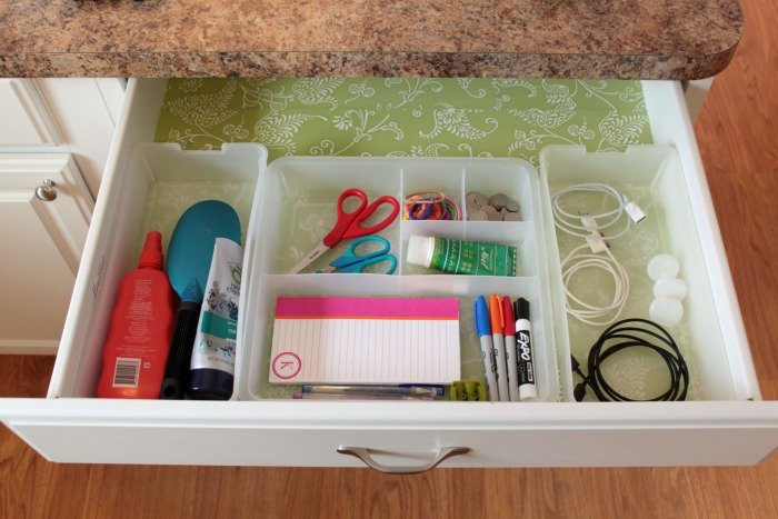 Having a space to keep items you need within reach helps to keep your day more sane and organized!
