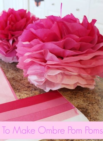 How To Make Ombre Pom Poms (and other birthday fun!)