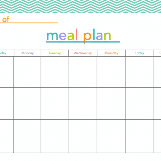 FREE Meal Plan Printable