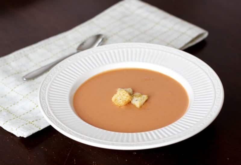 Homemade Tomato Bisque - perfect for a Winter warmup!