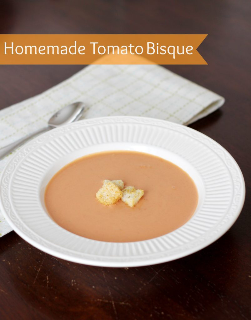 Homemade Tomato Bisque  - perfect for a winter warm-up!
