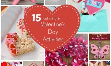 15 Last Minute Valentine's Day Activities!