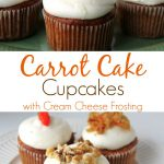 Guaranteed to be moist and delicious, these homemade from scratch, Carrot Cake Cupcakes with Cream Cheese Frosting recipe is sure to be a winner!